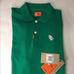 Nike Golf Masters Praying Hands Polo Green Sz M